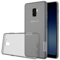 Samsung Galaxy A8 2018 silicone case Grijs