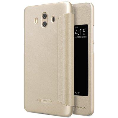 Huawei Mate 10 flip cover Goud