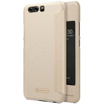 Huawei P10 flip cover Goud