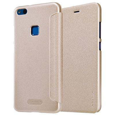 Huawei P10 Lite flip cover Goud
