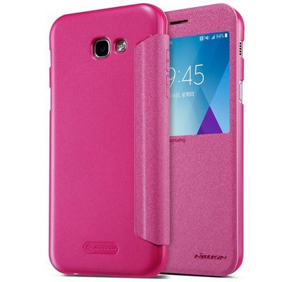 Samsung Galaxy A3 2017 flip cover Roze