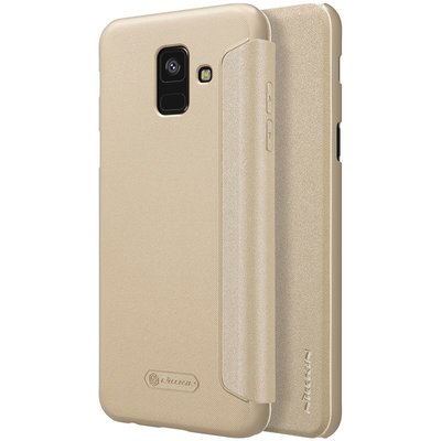 Samsung Galaxy A6 2018 flip cover Goud