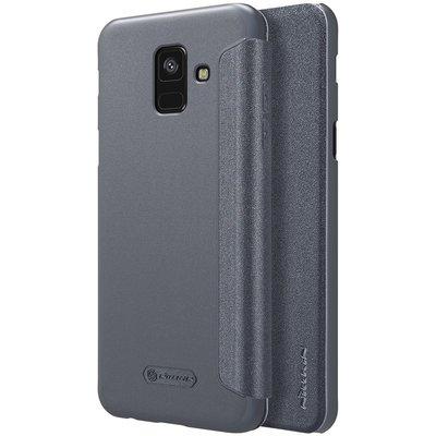 Samsung Galaxy A6 2018 flip cover Grijs
