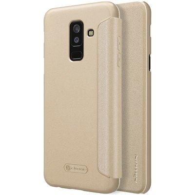 Samsung Galaxy A6 Plus 2018 flip cover Goud