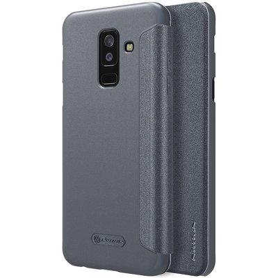 Samsung Galaxy A6 Plus 2018 flip cover Grijs