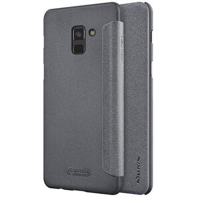 Samsung Galaxy A8 2018 flip cover Grijs