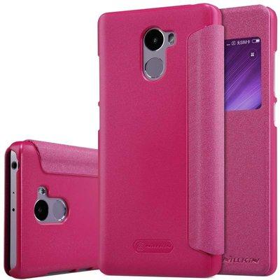 Xiaomi Redmi 4 flip cover Roze