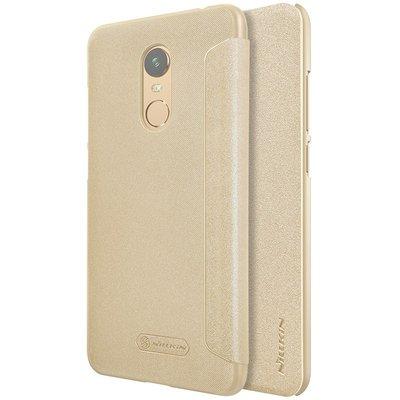 Xiaomi Redmi 5 Plus flip cover Goud