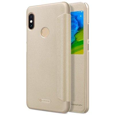 Xiaomi Redmi Note 5 flip cover Goud