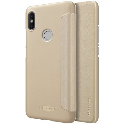 Xiaomi Redmi S2 flip cover Goud
