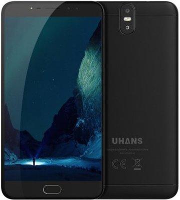 Refurbished Uhans Max 2 6,44 inch Android 7.0 Octa Core 4300mAh 4GB/64GB Zwart