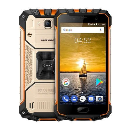 Ulefone Armor 2 5 pouces Android 7.0 Octa Core 4700mAh 6Go/64Go Or